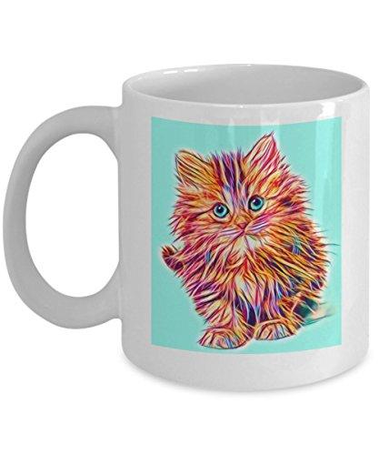 Orange tabby kitten with blue eyes. cat eyes, feline portrait