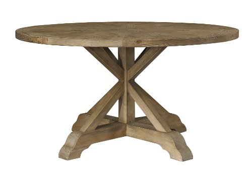 Padma's Plantataion Salvaged Wood Dining Table, 60-Inch Round - Padmas Plantation Loft