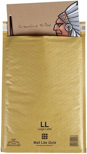 Mail Lite - Sobres de atosellado y con burbujas de aire (paquete de 10)