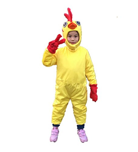 Deluxe Mascot Chicken Adult Costumes (MascotShows Kid's Deluxe Chicken Costume (One Size 3'7''-4'3'' (NO SHOES)))