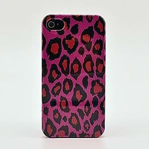 JJE Rose Red Leopard Hard Skin Case for iPhone 4/4s
