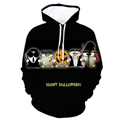 Club Penguin Halloween Party Game On (Mens Tops Halloween Pumpkin 3D Print Hooded Party Long Sleeve Hoodie)