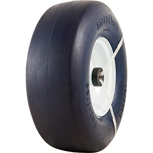 Marathon Tires Flat-Free Lawn Mower Tire - 3/4in. Bore, 13 x 5.00-6in.
