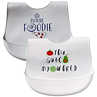 Hudson Baby Unisex Baby Silicone Bibs, You Guac My World, One Size