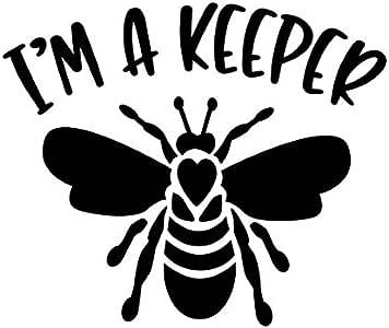 """Beekeeper Yellow Decal M188 6/"""" Vinyl sticker bee hive beekeeping bee"""