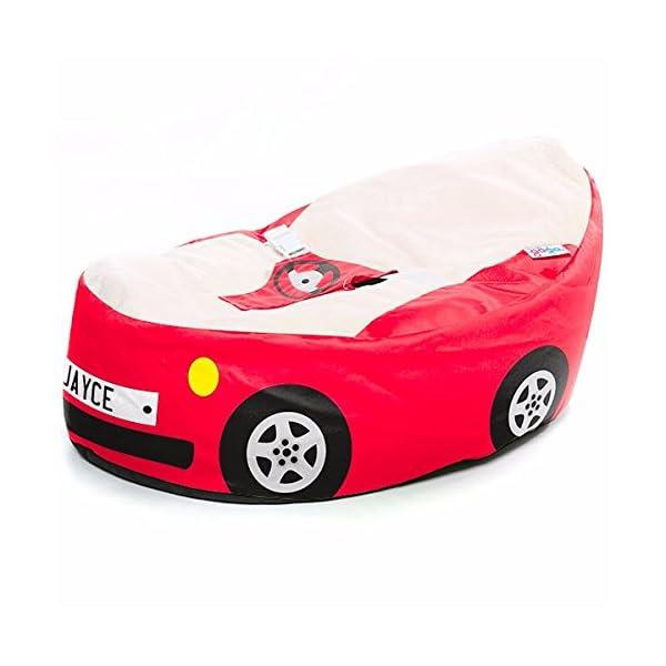Luxury Cuddle Soft Racing Car Gaga Baby Bean bags
