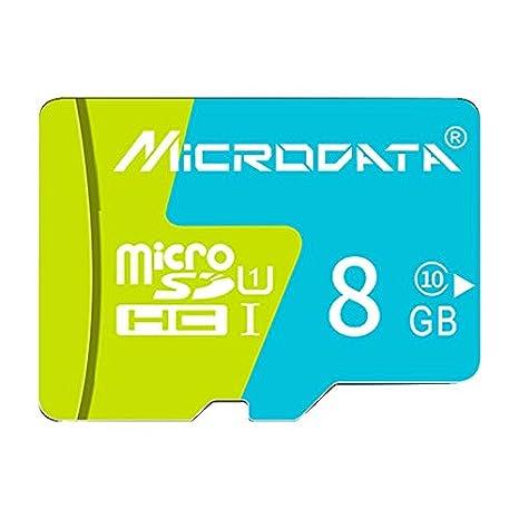 Alta calidad Tarjeta de memoria de 8GB U1 azul y verde TF ...