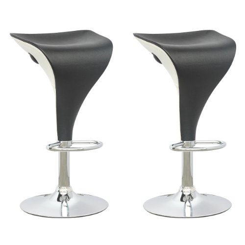 CorLiving DPV-405-B Adjustable Bar Stool Barstools Black