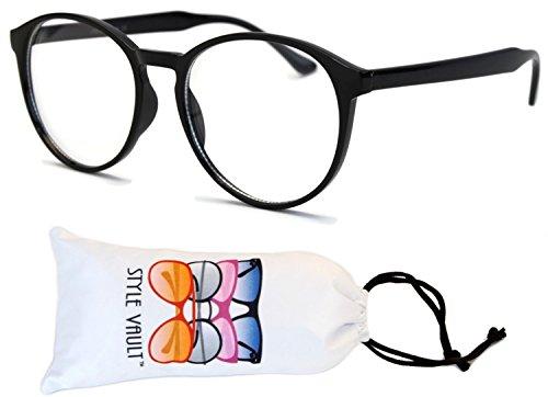 E25-vp Clear Wayfarer Oversized Eyeglasses (B2645F Black-clear, - Big Wayfarer Eyeglasses