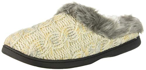 Cable Space Knit Slipper Clog Muslin Dearfoams dye Women's tSw5Sqf