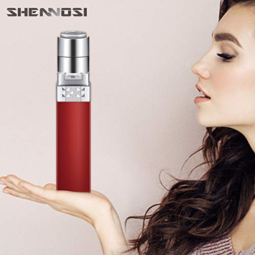 SHENNOSI Epilator Facial Hair Removal for Women, Face Shavers Hair Remover, Womens Painless Hair Remover Perfect for Good Finishing and Well Touch (Red)