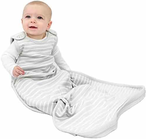 Woolino Baby Sleep Bag or Sack - 4 Season - Merino Wool - 2mo - 2yrs - Gray