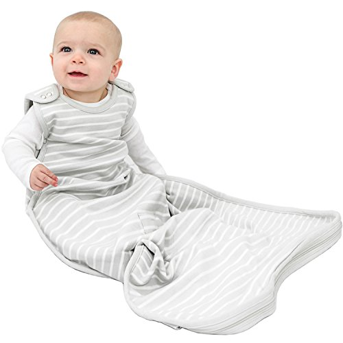 Woolino Baby Sleep Bag or Sack - 4 Season - Merino Wool - 2mo - 2yrs - Gray