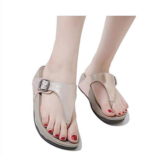 Chancletas Talón Cool Hebilla Mujer 1 grueso zapatillas Pellizcar 5cm Beauty Zapatilla leader Antideslizante 3 Suave 57Xq71xz