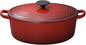 Le Creuset Enameled Cast-Iron 5-Quart Oval French Oven, Red
