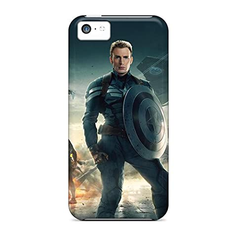 GunsRoses Perfect Tpu Case For Iphone 5c/ Anti-scratch Protector Case (captain America The Winter Soldier (Cheap Speck Case For Iphone 5c)
