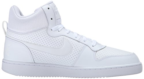 para Hombre Blanco NIKE Aa Mid Altas Borough Court Blanco Zapatillas wUYqYX6B