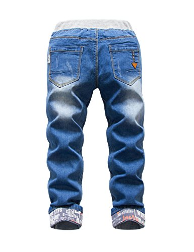 Premium Skinny Boys Jeans Slim Fit Pants for Toddlers Kids and Teens (2T, Nice LT) by HOLLAGLEE (Image #6)