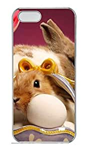 Happy Easter 5 Cover Case Skin for iPhone 5 5S Hard PC Transparent