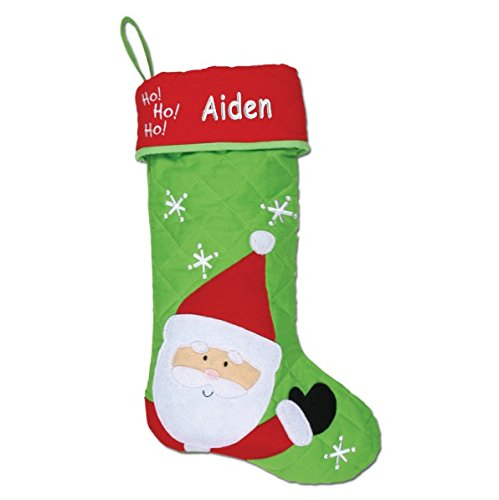 Personalized Ho, Ho, Ho Santa Quilted Christmas Stocking Santa Quilted Stocking
