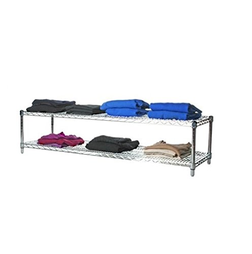 Commercial Chrome Wire Unit 14 x 60 - 2 Shelf Unit - 14'' Height by LJ