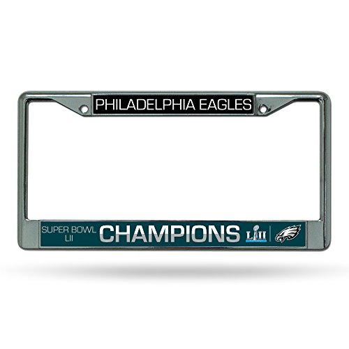NFL Philadelphia Eagles Super Bowl LII Champs Chrome License Plate Frame (Bowl Frame Super)