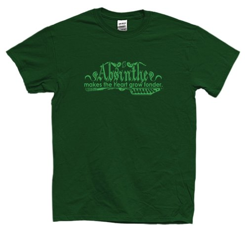 EART GROW FONDER T-Shirt, XL, Forest (Absinthe Green Fairy Shirt)