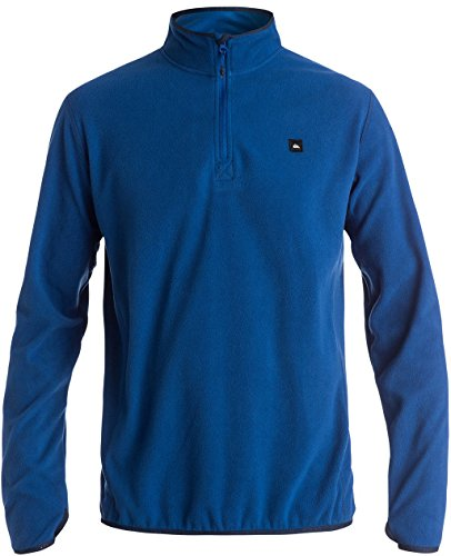Quiksilver Pullover Sweatshirt - Quiksilver Mens Aker Half Zip Technical Sweater Sweatshirt Medium Sodalite Blue