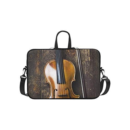 Laptop Bag Instrument Brown Violin Shoulder Bag Crossbody Bag Convenient for Men Women Business Personnel Teens Business Travelling School University