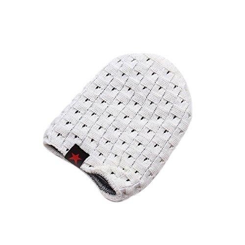 Tricot Ciselé Acvip Femme Couleurs Etoile Homme En Blanc Hiver Chaud Bonnet Avec Chapeau 10 XYwZBqRxw