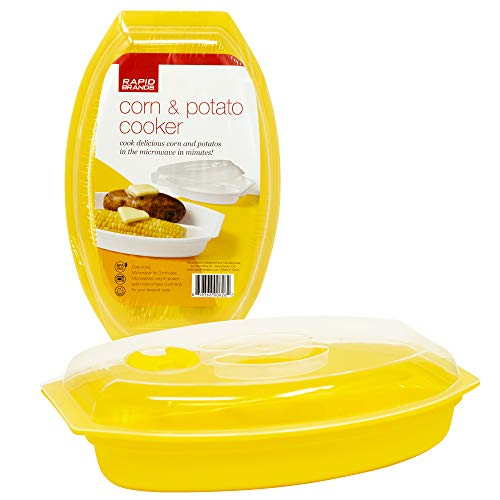 Rapid Corn & Potato Cooker | Microwave Fresh & Frozen Vegetables in Less Than 5 Minutes | Perfect for Dorm, Small Kitchen, or Office | Dishwasher-Safe, Microwaveable, BPA-Free (Best Frozen Vegetables Brands)
