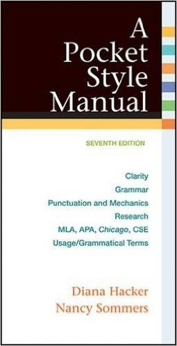 A Pocket Style Manual by Diana Hacker Nancy Sommers 7th edition (Textbook ONLY, Spiral-bound)