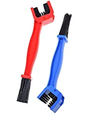 Chain Washer Cleaner, 2 Pcs Bike or Motorcycle Chain Washer Suitable for Mountain, Road, City, Hybrid Bike And Motorcycle(Blue and Red)