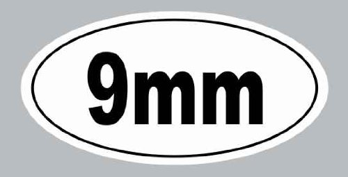 9mm Gun Decal Rights Funny Bumper Sticker Car Truck Window Hand Rifle Sniper S&W Pistal