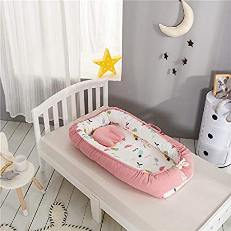 Watermelon bionic sleepy baby isolation crib removable and washable stereo cotton Folding bed bed anti-pressure portable protection