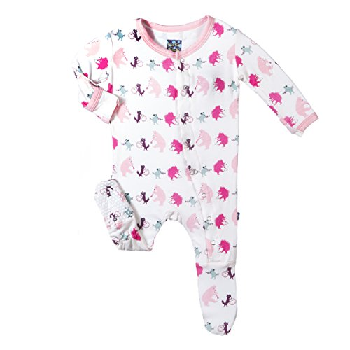 Price comparison product image Kickee Pants Girls' Baby Footie, Girl Parade, 2T
