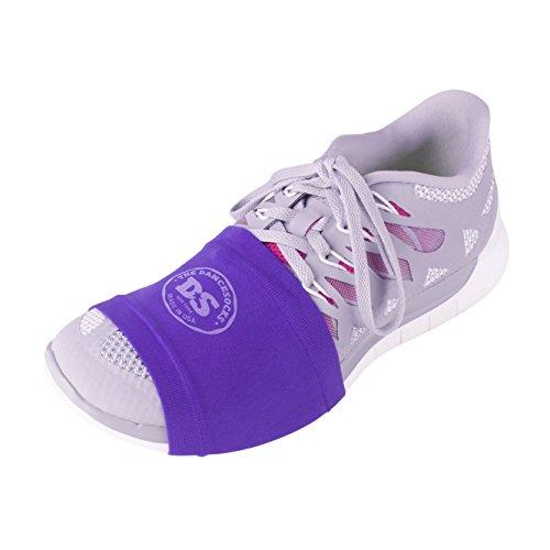 THE DANCESOCKS - Over Sneaker Socks for Dancing on Smooth Floors (2 Pairs- Purple) - Womens Line Dancing Shoes