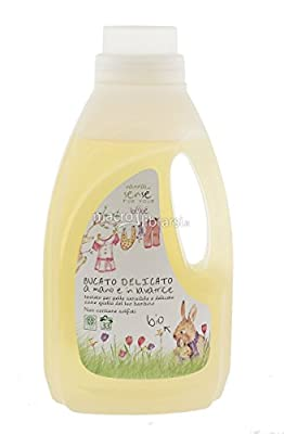 SENSE' - Baby Liquid Laundry Detergent Sensitive - High Cleaning Power, Gentle on the Fibers - Free from Synthetic Fragrances - Suitable for Children's Sensitive Skin - 1lt