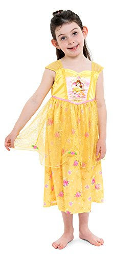 Disney Little Girls' Fantasy Nightgowns, Belle Gold, 6 -