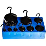 United Scientific WHSBE9 Black Enamel Hooked Weight Set, Set of 9 Weights, Black Enamel Finish