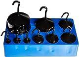 United Scientific WHSBE9 Black Enamel Hooked Weight Set, Set of 9 Weights, Black Enamel Finish