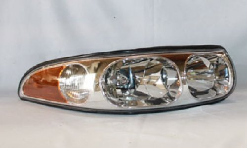 Buick LeSabre Custom Replacement Headlight Assembly (Smooth High Beam Surface) - Passenger Side - Buick Lesabre Headlight Assembly