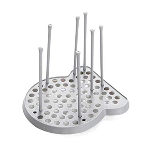 - Best Quality - Racks & Holders - Cup Bowl Dish Drainer Holder Organizer Dish Drying Rack Plastic Kitchen Plate Grids Drainer Colanders Storage Frame (Grey) - by GTIN - 1 PCs