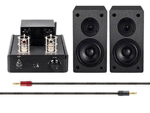 Monoprice Stereo Tube Amp Audio Component Amplifier, Black (116156) Monoprice Inc.