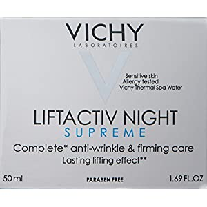 Vichy LiftActiv Night Supreme Vitamin C Anti-Wrinkle and Firming Night Cream, 1.69 Fl. Oz.