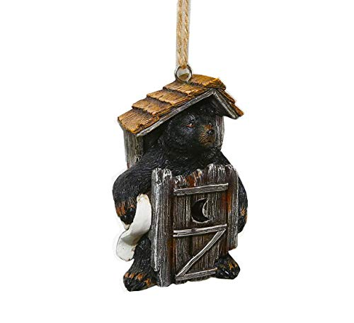 AR Country Store Bear Outhouse Ornament ()
