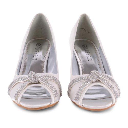 Footwear Sensation - punta abierta de sintético mujer blanco - Ivory