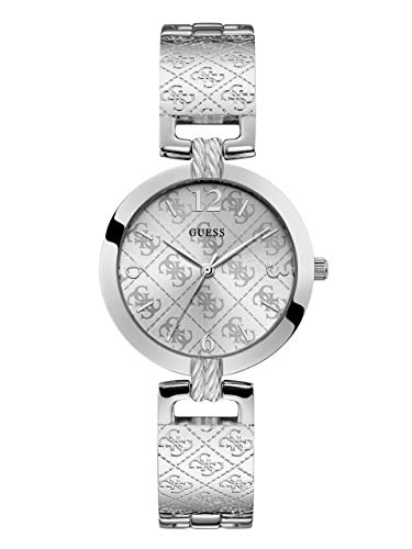 GUESS Women's Japanese Quartz Watch with Stainless-Steel Strap, Silver, 16 (Model: U1228L1)