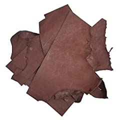 This 5 pound assortment of 7-8 ounce Havanna brown holster and sheath leather scrap pieces is ideal when you need just a bit of leather for leatherworking projects. Molds and tools well. Great leather for making holsters, knife sheaths and st...