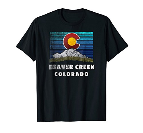 Beaver Creek Colorado Shirt with Flag Themed - Creek Beaver Colorado